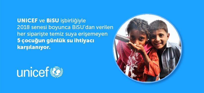 BiSU & UNICEF'den çocuklara temiz su